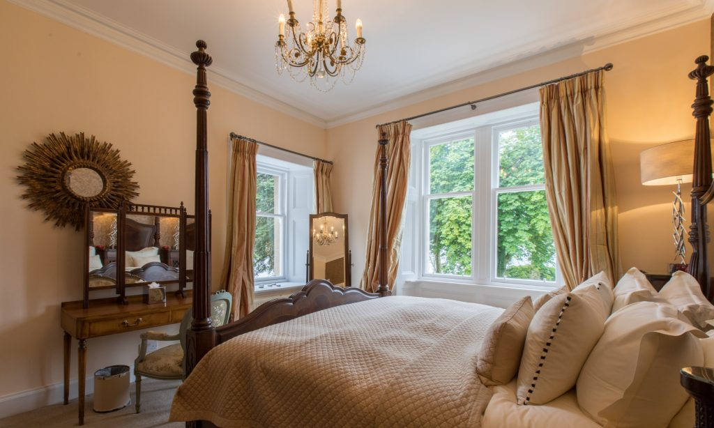 Bridal suite at Altskeith Country House